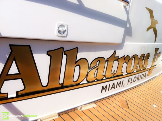 Beach house graphics daytona orlando fl area vinyl lettering vinyl decals vinyl signs business signage boat decals logos stickers graphics