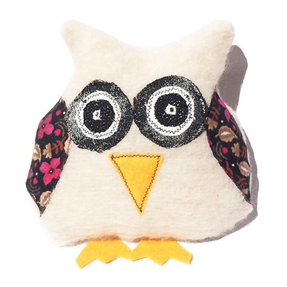 Fluffy White Mintchi Owl