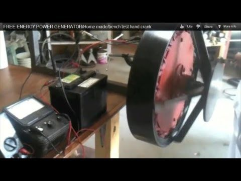How to make a hand-powered DC electric generator out of common-day objects?