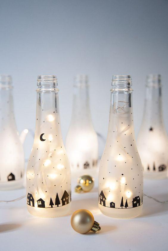 DIY Botella luminosa · DIY Light bottle · Fábrica de Imaginación · Tutorial in Spanish