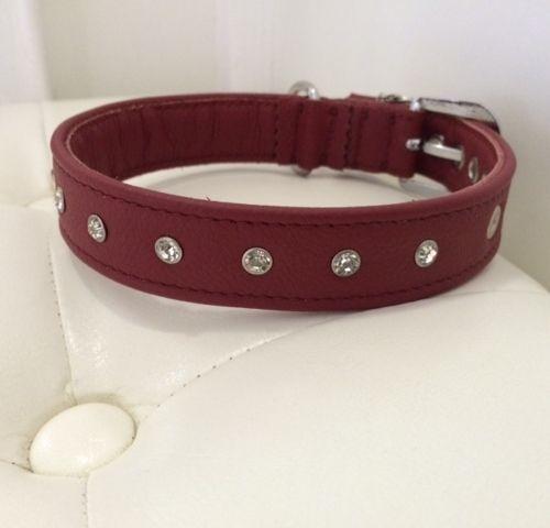 Leder Halsbänder : Strass Lederhalsband