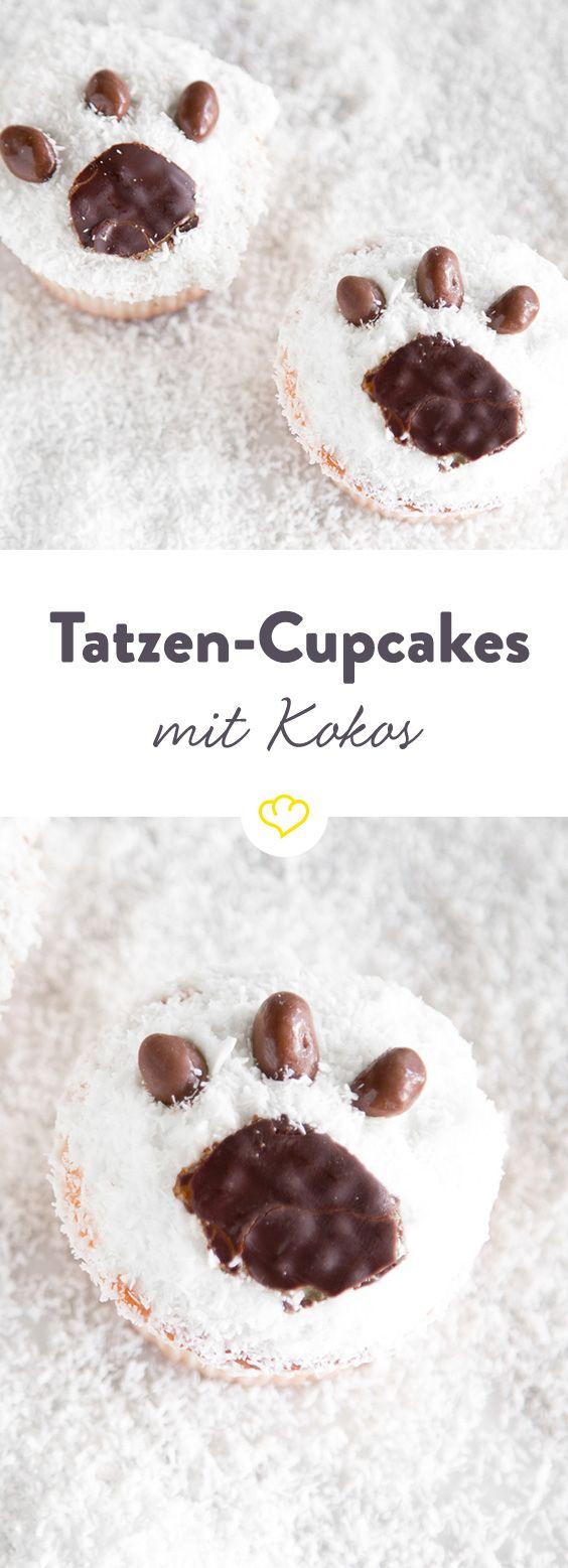 Taps, taps…happs! Die niedlichen Tatzen-Törtchen mit Kokos und Gelee-Cookies sind so lecker, dass sie ohne Umwege gleich in deinen Mund tapsen…mampf.