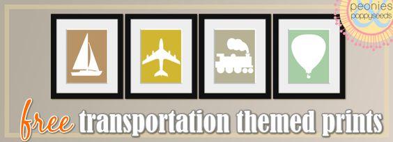Transportation Prints   Peonies and Poppyseeds