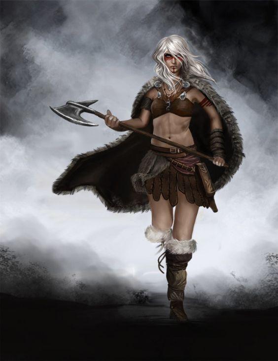 Barbarian Picture (2d, fantasy, girl, woman, barbarian ...