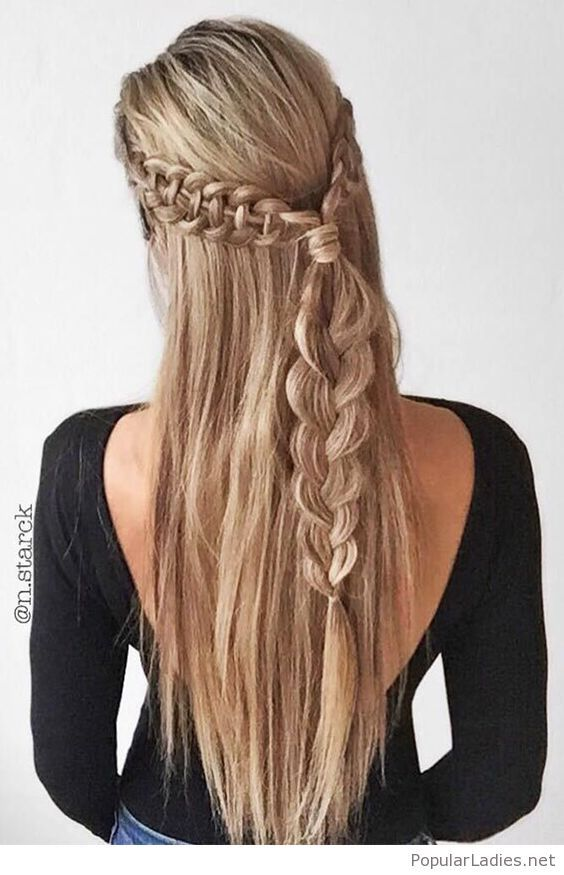 A Cute Braid Hairstyle For Party And Holidays Hair Styles Long Hair Styles Hairstyle
