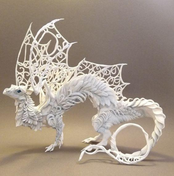 Clay dragon.