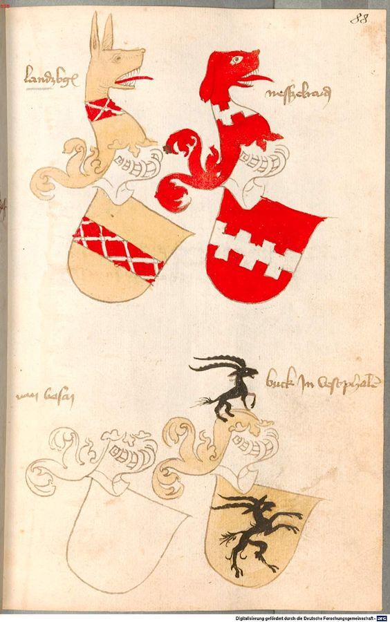 Bruderschaftsbuch des jülich-bergischen Hubertusordens Niederrhein, um 1500 Cod.icon. 318  Folio 88r