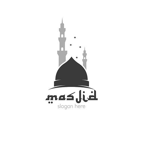 Desain Logo Masjid Rumah Joglo Limasan Work