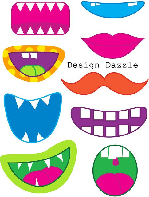 actual monster mouth/eye printables!!!