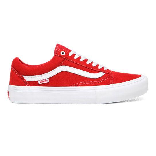 Suede Old Skool Pro Shoes   Red   Vans