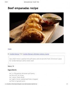 Ramsay's Beef Empanadas