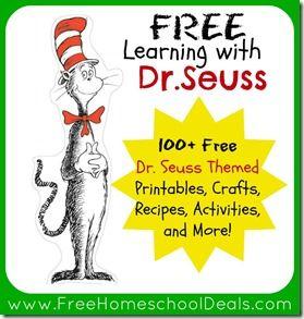 Dr Seuss activities free home school deals 100