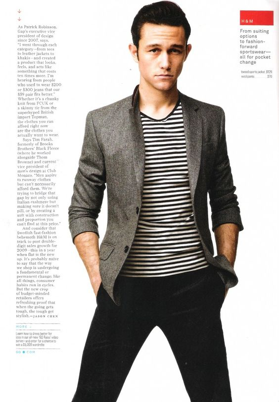 Tweed Sports Coat over a Striped Cotton T-Shirt...plus JGL