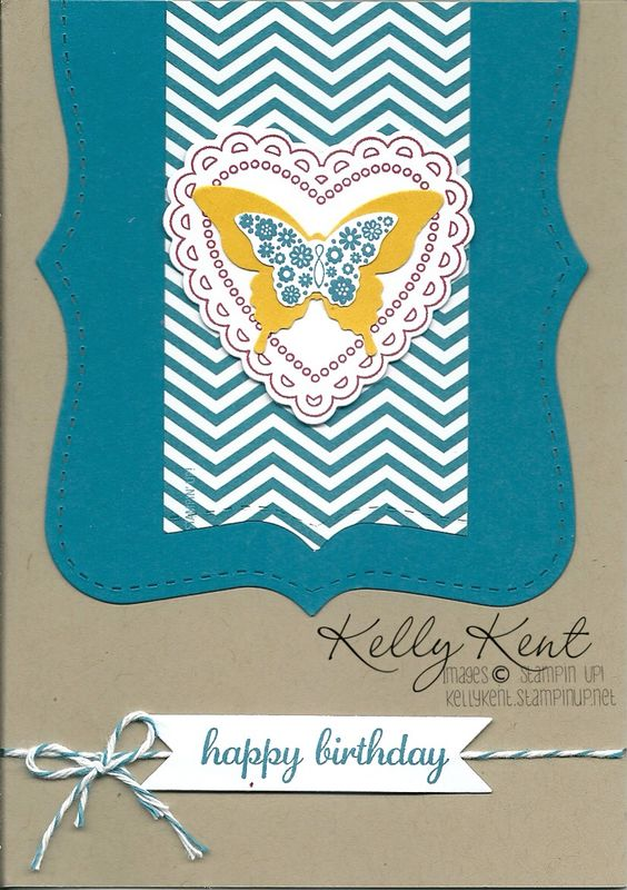 Island Indigo is my favourite colour. Kelly Kent - Independent Stampin' Up! Demonstrator.