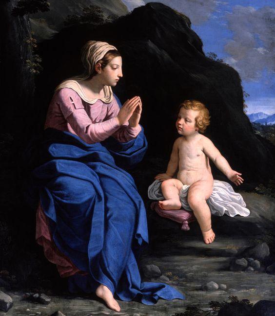 Ludovico Lana (c.1597-1646) — Virgin of the Ghiara  (785×900):
