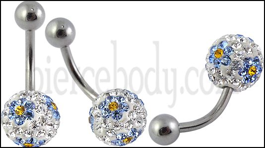 Crystal Stone Belly Ring FDBLY055