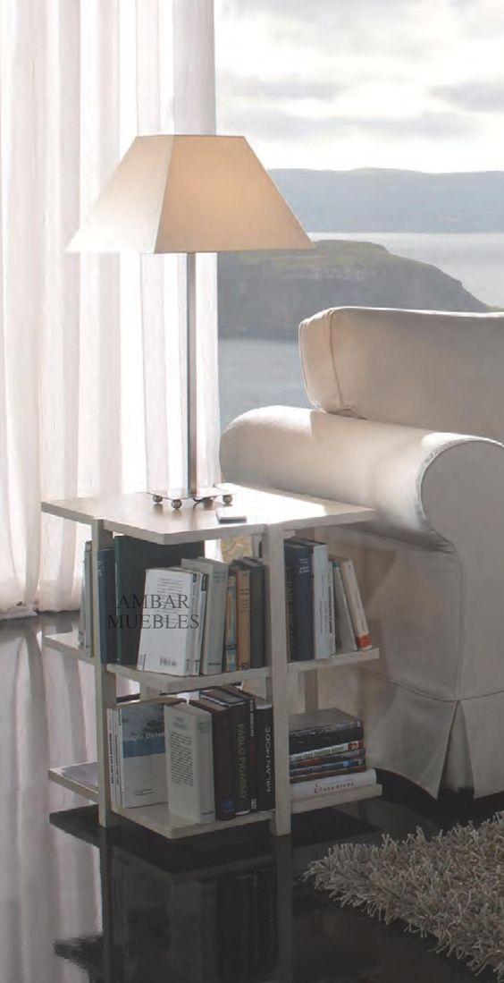 Mesita librero oliver mesas auxiliares modernas for Muebles auxiliares modernos
