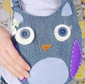 Craft Your Style: Recycled Denim Owl Purse Tutorial