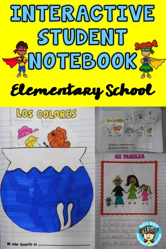 5 reasons to use interactive student notebooks in elementary spanish class spanish learning. Black Bedroom Furniture Sets. Home Design Ideas