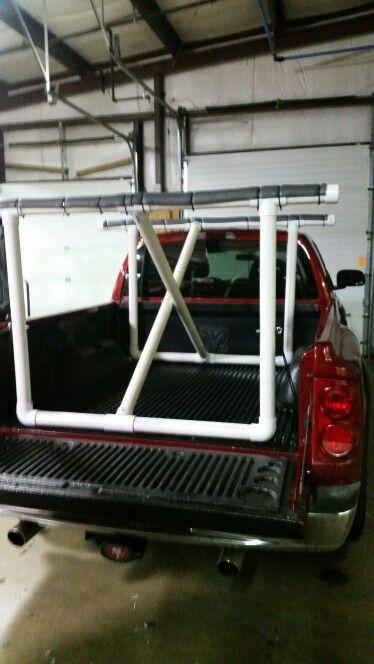 DIY truck kayak rack