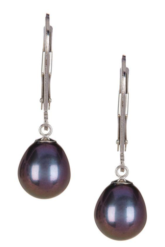 7-8mm Black Freshwater Pearl Dangling Earrings | Nordstrom Rack