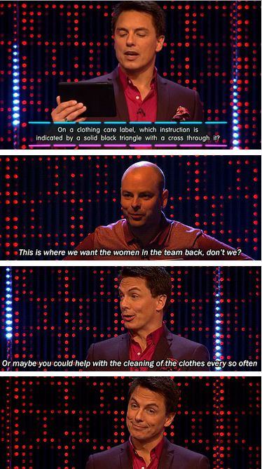 John Barrowman being sassy.