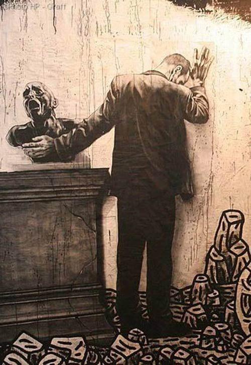 Ernest Pignon & Speedy Graphito in Paris, France   urban street artists, graffiti art, urban art