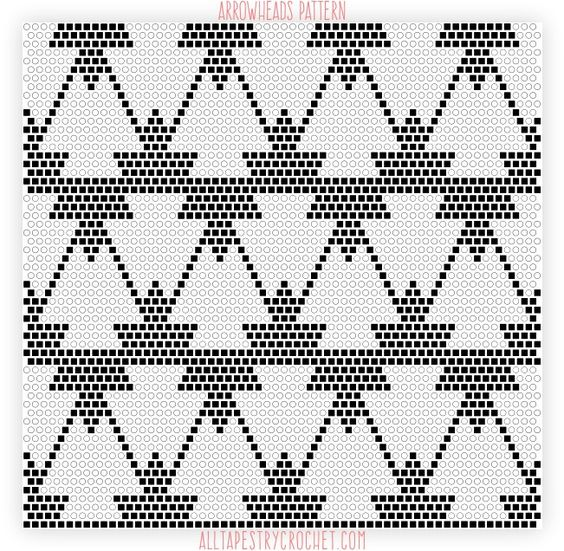 Here's a fun pattern that mixes geometrical, clean shapes with tribal elements. It's a bit tricky to the eyes, but not at all tricky to crochet. Graphed in black and white, it has a cla…: