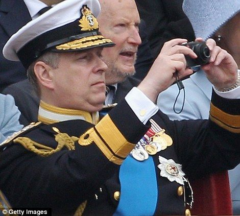 Snap decision: Prince Andrew used a compact camera to take some pictures