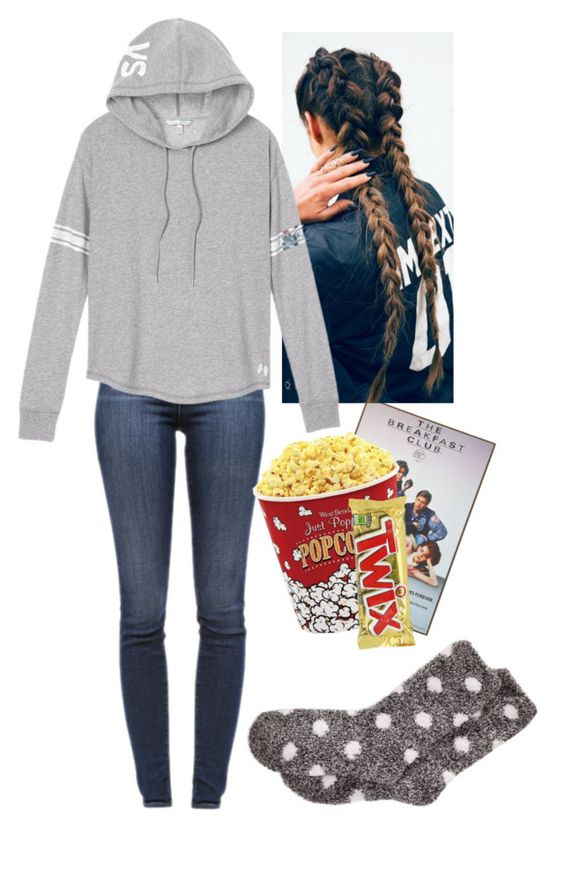 """""""Chill Night w/ BF"""" by emh0401 on Polyvore featuring J Brand, West Bend, Victoria's Secret and Aéropostale"""
