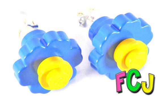 Lego Flower Stud Earrings