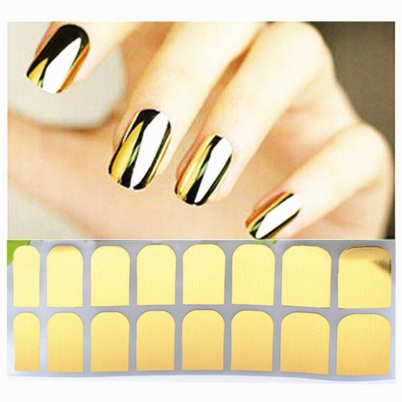 Metallic Shiny Nail Sticker