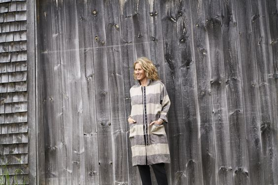 The wide striped duster coat #style #linen #southstreetlinen #stripe #madeinmaine