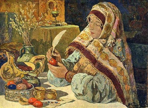 Ivan Goryushkin-Sorokopudov (1873-1954). Russian painter    Easter Time