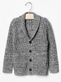 Marled shawlneck cardigan