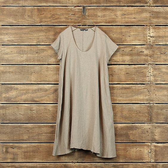 Mizuiro-Ind > Short Sleeve A Line Dress at New High (M)art $235