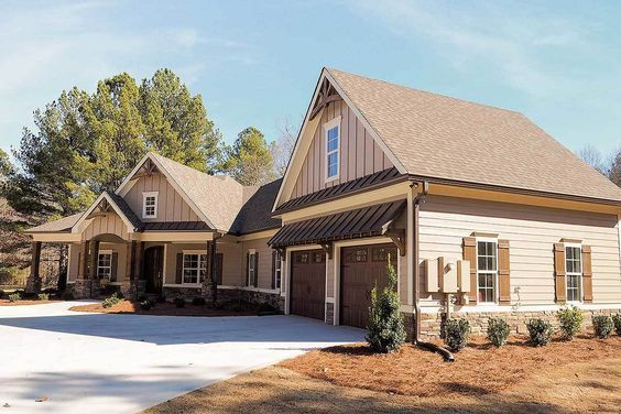 Plan 36031dk Craftsman House Plan With Angled Garage With Images Craftsman Style House Plans Craftsman House Craftsman House Plan