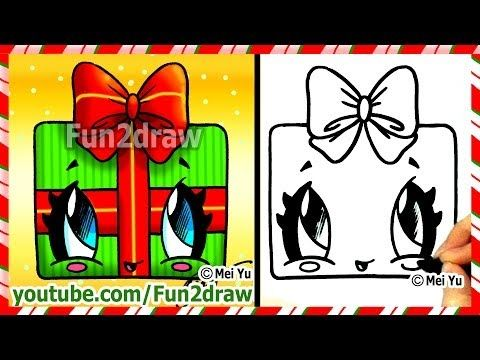 How to Draw Christmas Pictures - Candle + Holly Decoration ...