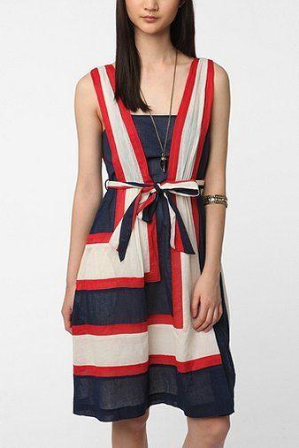 UrbanOutfitters.com > Betsey Johnson Pink Label Colorblock Tank Dress