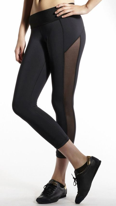 Pair of slimming body shaper, quick dry yoga pants / sports tights with an elastic  waist for added comfort while ensuring they don't move during your yoga ...