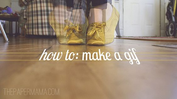 How to Make a gif by The Paper Mama, via Flickr #DIY #GIF