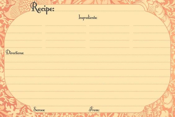 Free Printable Recipe Cards Love this website All kinds of - free recipe card templates for microsoft word