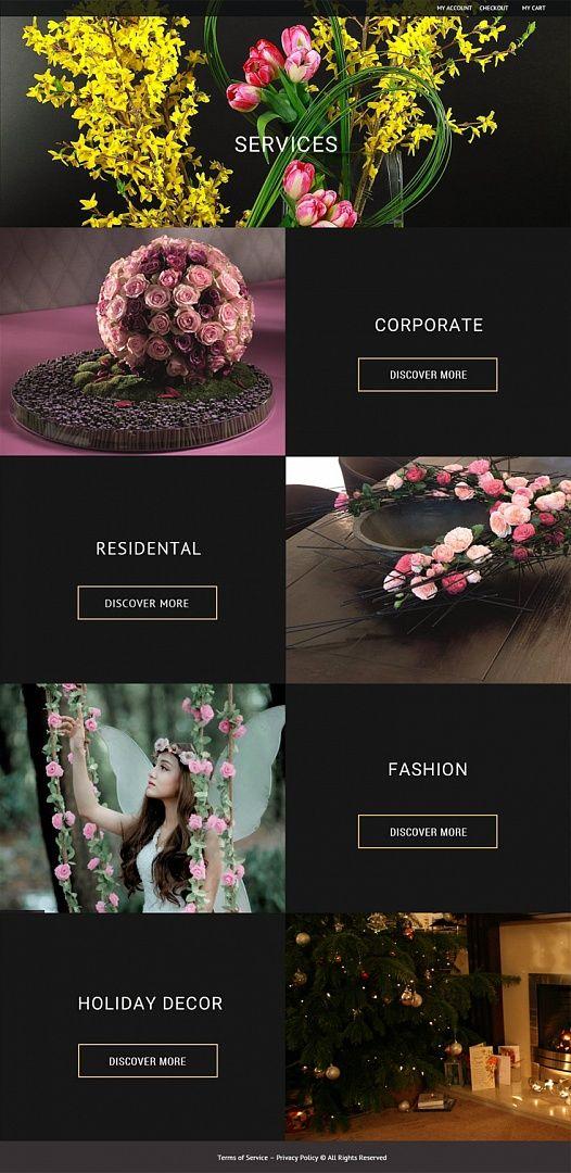 Flower Website Design Fashion Web Design Web Layout Design Web Design Black