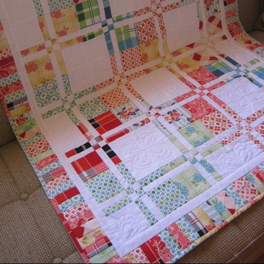 Disappearing four patch Quilt