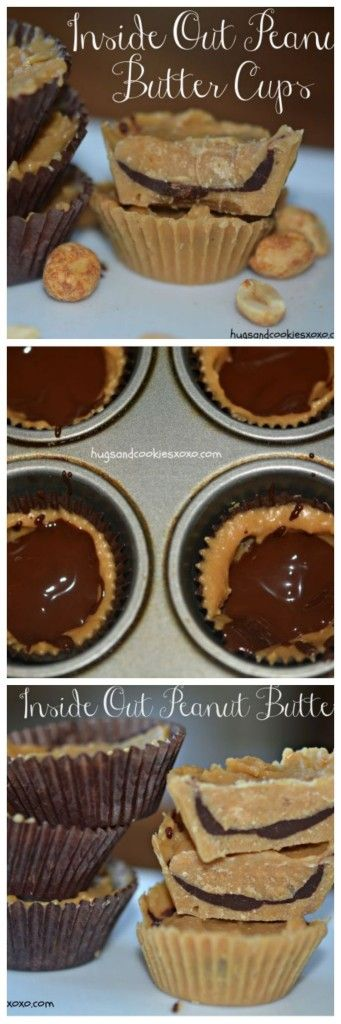 Inside out, Peanut butter cups and Peanut butter on Pinterest