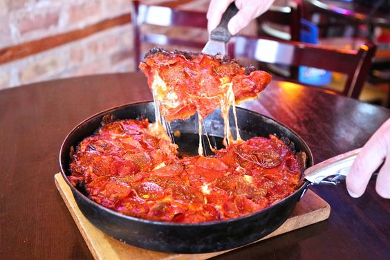 Pequod's is a Chicago staple when it comes to deep dish pizza, and it's awesome.