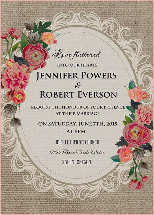 10 First Rate Vintage Wedding Invitations Cheap