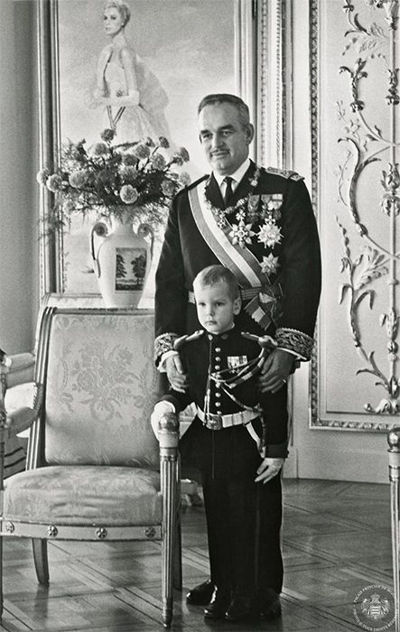 Hello!-Newly Released Photos of Monaco's National Day-Prince Rainier and Prince Albert, 1965