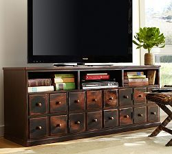 Media Furniture,  maybe make this with the cabinets we already have...change it up a little bit!