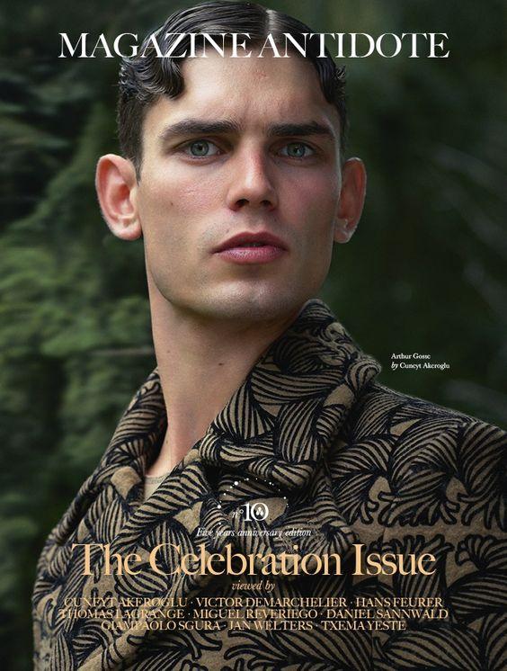 Male Fashion Trends: Arthur Gosse en portada de Antidote Magazine Fall/Winter 2015 : The Celebration Issue
